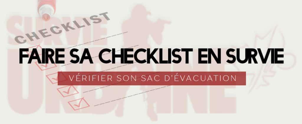 Faire Sa Checklist En Survie